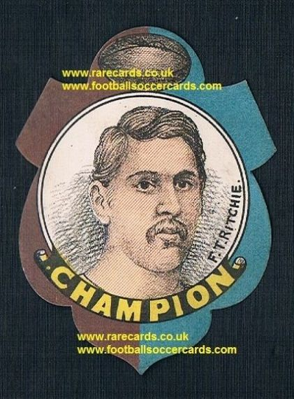 1888 Frank Ritchie AAA British sprinter & Bradford rugby star W.N. Sharpe saddle card
